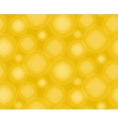 Yellow seamless pattern with round shapes vector