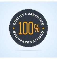 Quality guaranteed badge vector image vector image