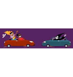 Unsafe driving vector image vector image