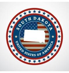 Vintage label South Dakota vector image vector image