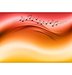 abstract music red vector image