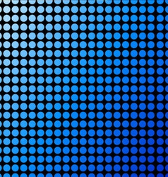 Background with blue polka dots vector image