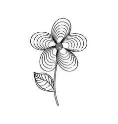 jasmine flower decoration sketch vector image vector image