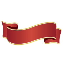 Ribbon wide red vector image