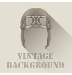 Background of Retro aviator pilot or biker helmet vector image vector image