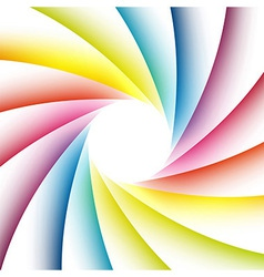 Bright rainbow poster for highlighting the message vector image