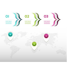 business concept with 3 options vector image