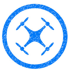 quadcopter rounded grainy icon vector image