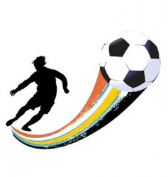 soccer player and ball vector image