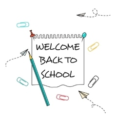 Back School Background vector image