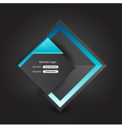 business login page vector image