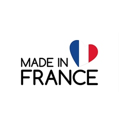 Made in France symbol with the heart vector image
