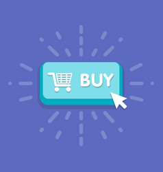 modern buy button design with mouse click symbol vector image