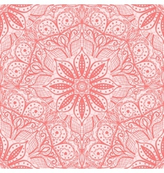 Pink seamless pattern of round lacy napkins vector image vector image