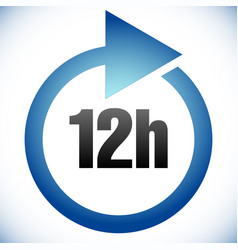 12h turnaround time tat icon interval for vector