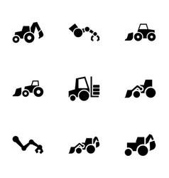 9 hydraulic icons vector