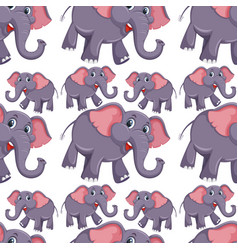 a elephant seamless pattern vector image