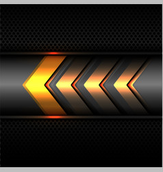 Abstract yellow arrow power light technology vector