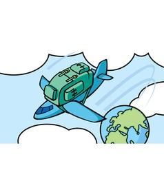 Airplane knapsack vector