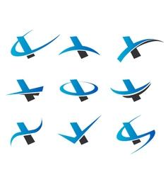 Alphabet I Logo Icons vector image