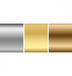 Aluminum bronze brass stitched textures vector