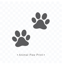 Animal paw print icon on vector