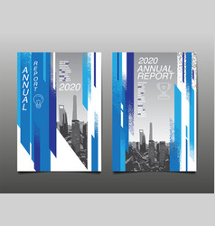 Annual report 2020 future business template vector
