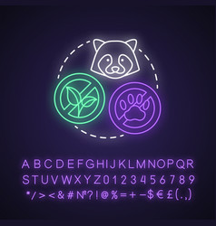Biodiversity loss neon light concept icon vector