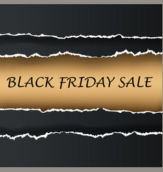 black friday banner paper ill vector image