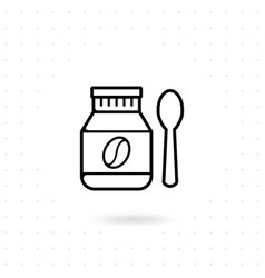 bottle coffee bean icon vector image