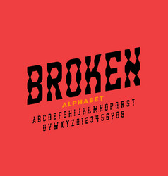 broken style font vector image