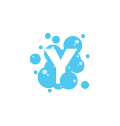 Bubble with initial letter y graphic design vector