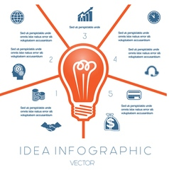 Business concept light bulb infographic 5 vector