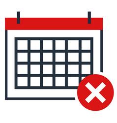 calendar flat design symbol no vector image