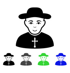 Christian priest flat icon vector