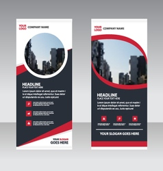 Curve business roll up banner flat design template vector
