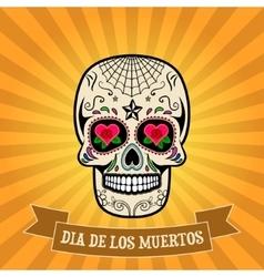 day dead dia de los muertos sugar skull vector image