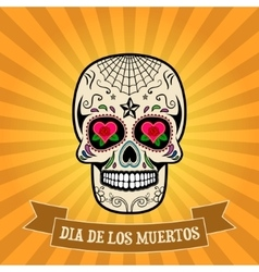 Day of the dead dia de los muertos Sugar skull vector