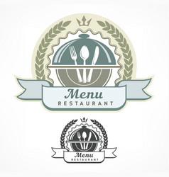 design menu labels vector image