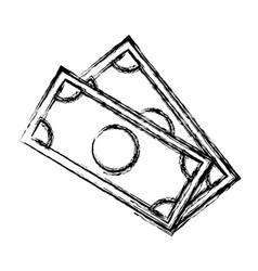 Dollar money banknote currency cash icon vector