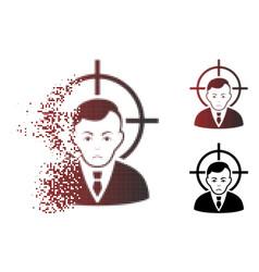 Dolor dust pixel halftone victim businessman icon vector