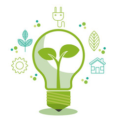 Eco friendly light bulbs design vector