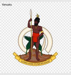 Emblem vanuatu vector