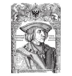 Emperor maximilian was created albrecht durer vector