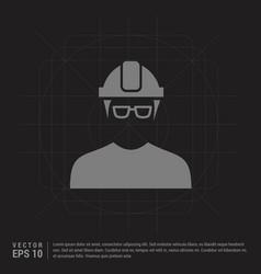 engineer user icon - black creative background vector image