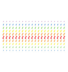 Falling airplane shape halftone spectral pattern vector