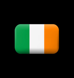 Flag of ireland matted icon and button vector