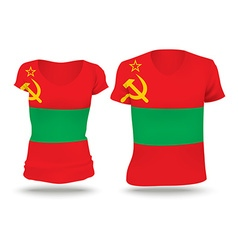 Flag shirt design of Transnistria vector image