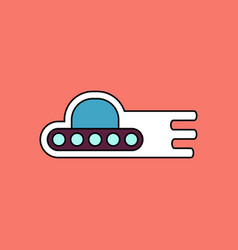 Flat icon design collection flying saucer icon vector