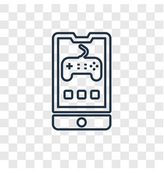game concept linear icon isolated on transparent vector image